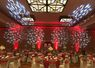 Red Uplighting with Heart Gobos