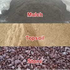 Landscape material delivery available. Three  yard loads of Topsoil, Mulch and Aggregates.