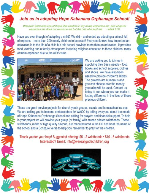 Hope Kabanana wristband project image
