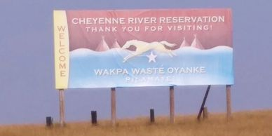 Cheyenne River sign
