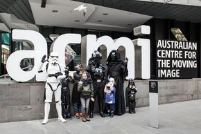 Melbourne kids at ACMI Star Wars Day