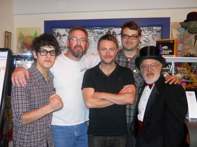 Matt Bennett, Me, Chris Hardwick, Jonah Ray and Dr. Demento in 2012