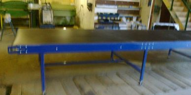 PVC Belt Conveyor with cut resistent belt for an aerospace tyre factory