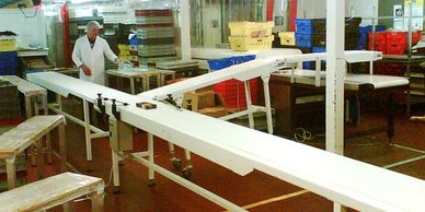 Pu Belting food industry conveyor for a well known mint cake factory