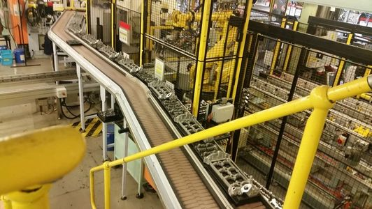 automotive conveyor system for the material handling industry