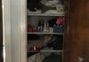 BEFORE - difficult to access linen closet -