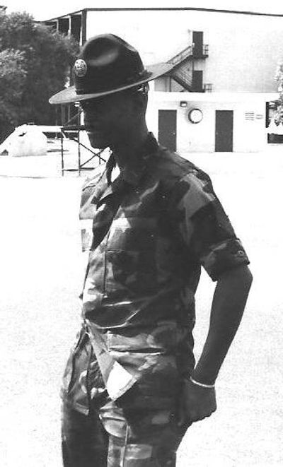 As a Military Training (Drill) Instructor in the Air Force.