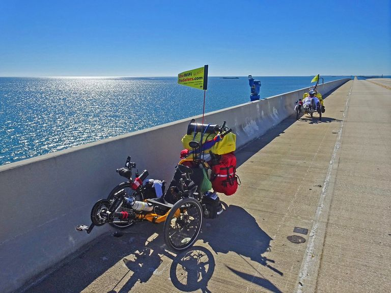 The 7-Mile Bridge, The Florida Keys, Recumbent Trikes