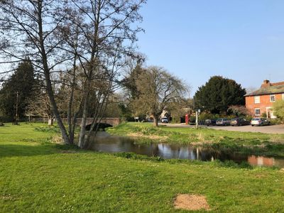 West Dean Village Green and River