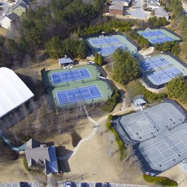 Amenity construction, Indoor and outdoor tennis courts