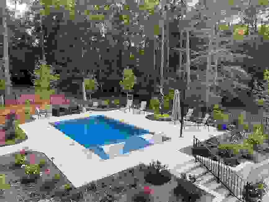 Pool built by Pool Store of The Pines.  Designed by LDIG.