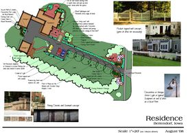 Landscape Design Drawing by LANDDescapes, LLC Landscape Design Contractor