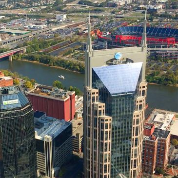 See all the Nashville Skyline in a Helicopter. Titan Stadium, the Ryman, Parthanon, Broadway, Cumber