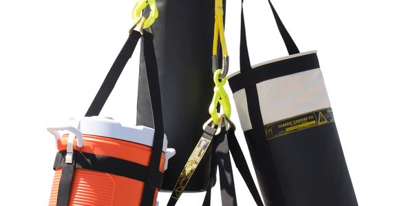 Multiple carrying lifting sling.