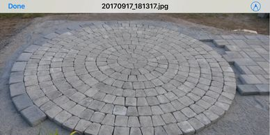 Paver circle on a front door entrance Landscape Services, Atkinson NH