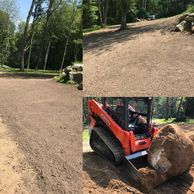 Lawn Install Prepped and ready for seed Landscape Services, Atkinson NH