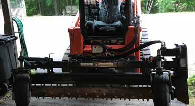 This 7 foot Harley Rake is great for prepping pads,  grading Excavation: utility pads, Atkinson, NH