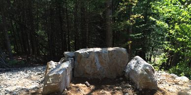 Custom Stone Fire Pit 3 feet deep x 4 foot wide  Landscape Services, Atkinson NH