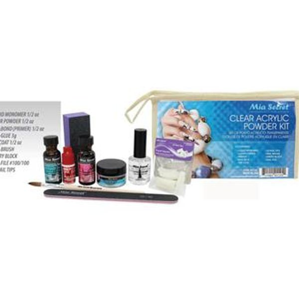 Clear Acrylic Powder Kit (Mia Secret)