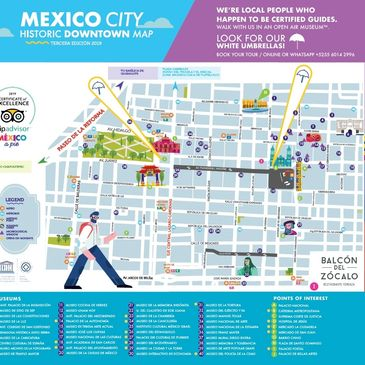 Mexico City Map, Touristic Information Mexico City, Walking Tours, Private Tours, Custom-Made Tours