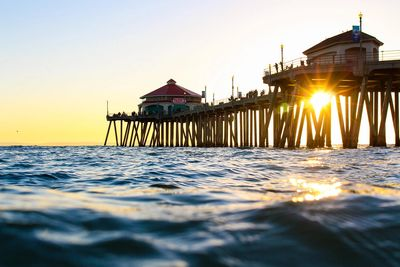 Head to the Huntington Beach Pier. The city's most famous landmark, the pier dates back to 1904.