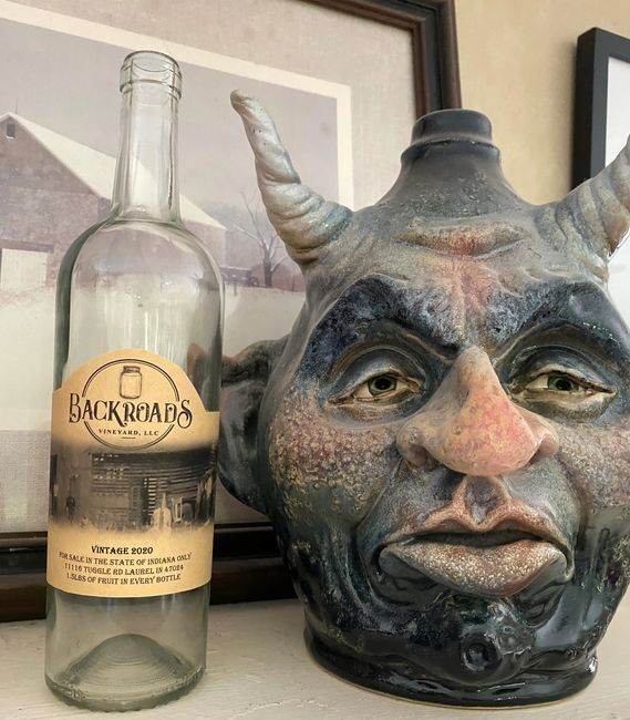 Our face jug Damion was created by Ed Klimek, Jughead pottery
