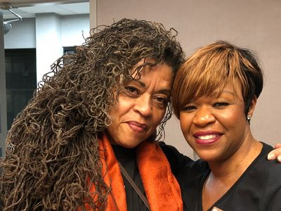 Dr. JoAnne Cornwell & Cassandra Lawson co-hosts of the Sisterlocks® Podcast.