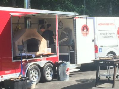 mobile wood fired pizza trailer