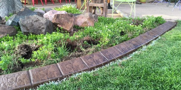 Stamped concrete curbing in Fort Collins