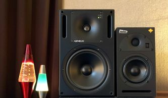 Genelec 1031a, Hafler M5, studio monitors, recording studio, Rockford, Illinois, Chicago area