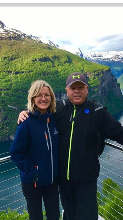 Mary and Ron Above The Fjords in Norway