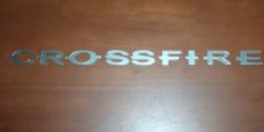 Crossfire letter set for rear lid