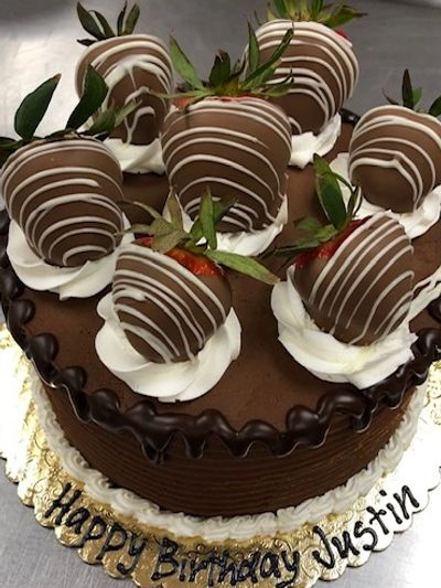 Chocolate Covered Strawberry Super Signature Cake