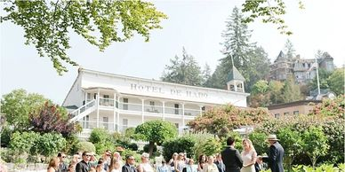 Roche Harbor San Juan Island weddings Didier Gincig, wedding planner wedding coordinator officiant