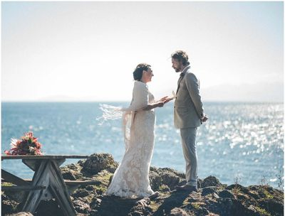 Elopement Wedding, Lime Kiln State Park, San Juan Island
