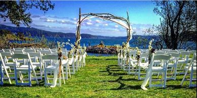Pebble Cove Farm Orcas Island  Didier Gincig, Wedding Planner  Wedding Officiant San Juan Islands