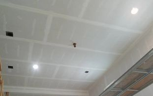 Gypsum board installation