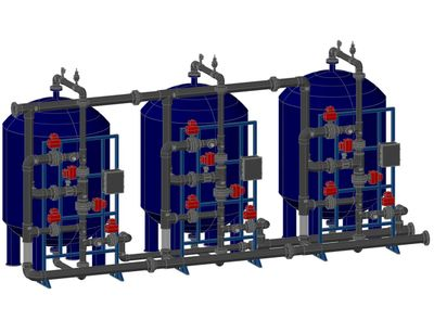 multi-media filters, water pre-treatment system, carbon filters, sand filters, media filtration