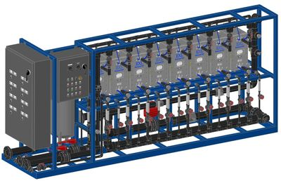 electro deionization, EDI system, ultra-pure water, boiler feed water, pharmaceutical process water