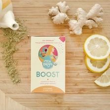 Boost Tea Sprinkles on a cutting board