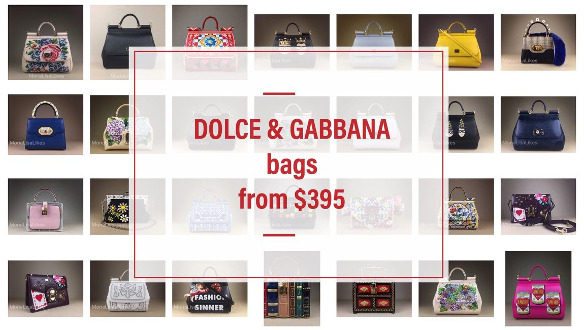 DOLCE & GABBANA bags clearance with low prices starting at $395