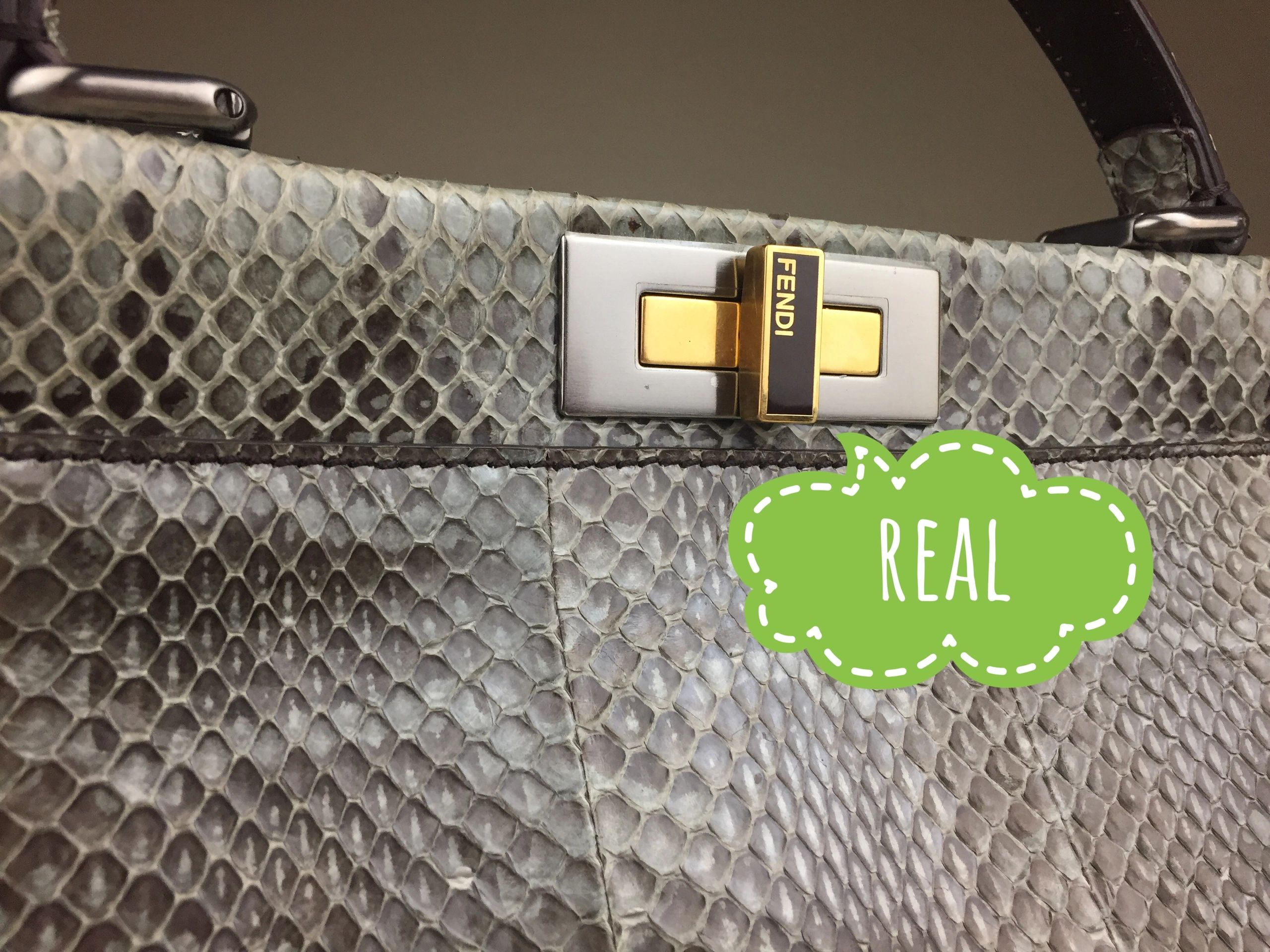 a7b8de4c83 How to tell a real FENDI handbag from fake. Authenticity guide