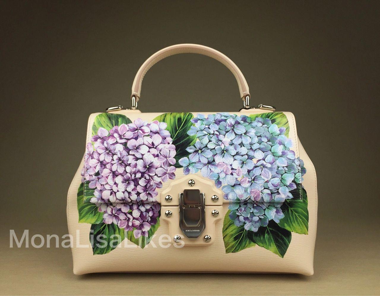 4cc3393afe DOLCE   GABBANA Lucia handbag with Hydrangea print