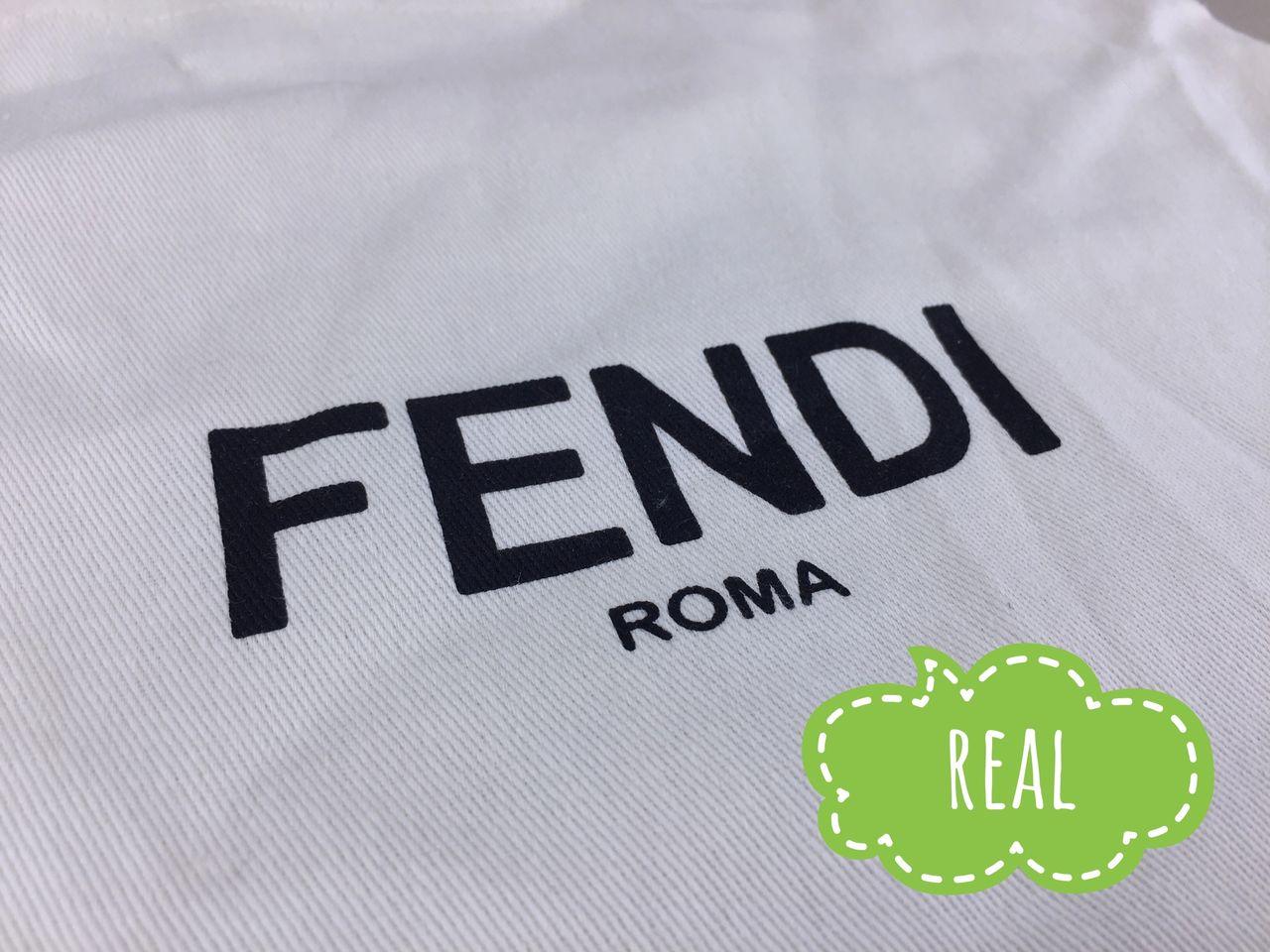 FENDI logo is printed on the dust bag
