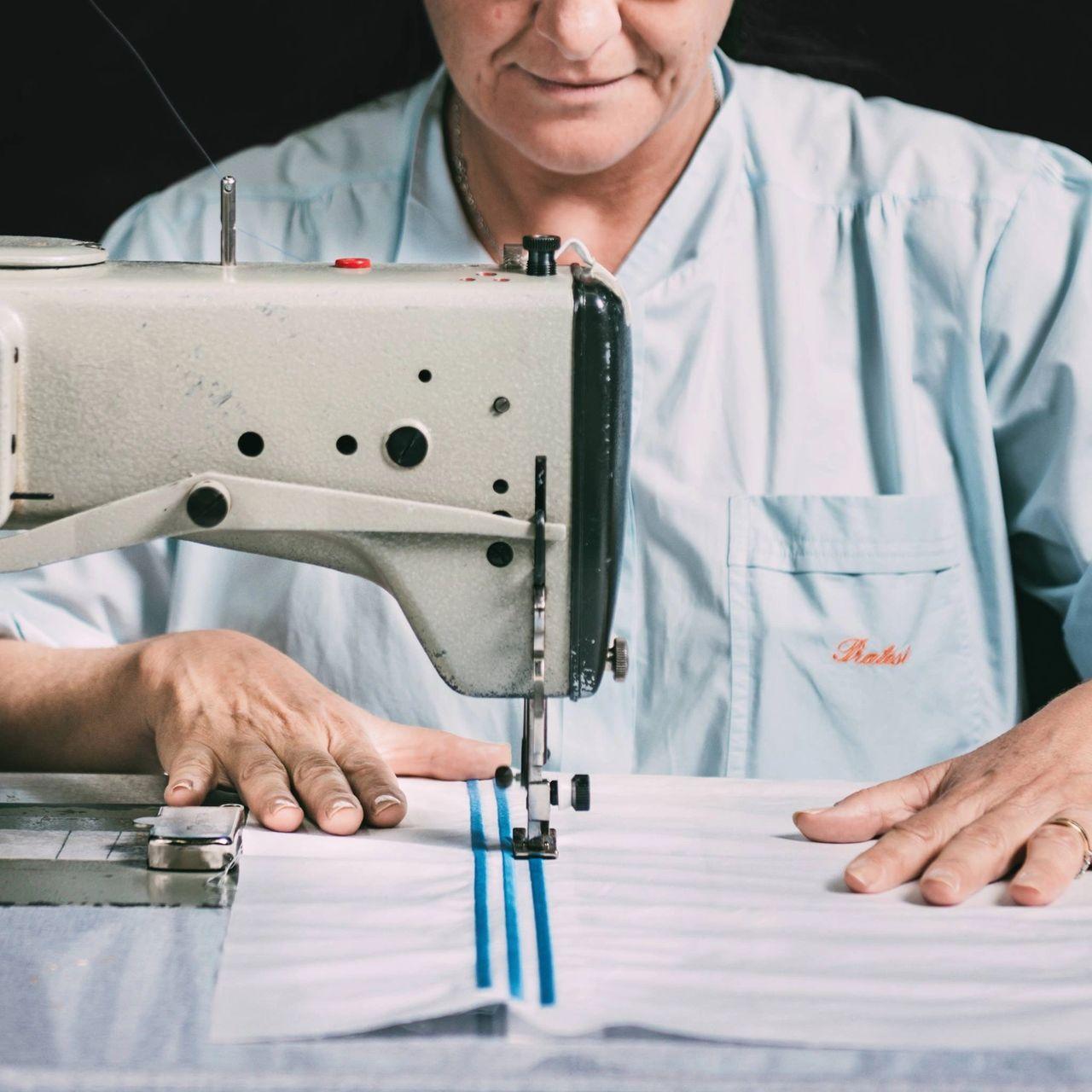 Manufacturing process of PRATESI pillow case