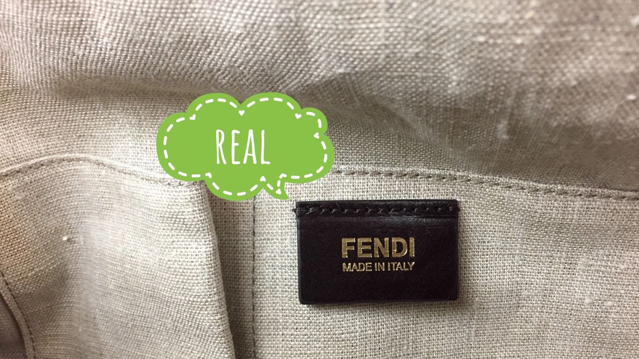 """FENDI Made in Italy"" and perfect stiching are the attributes of real FENDI bag"