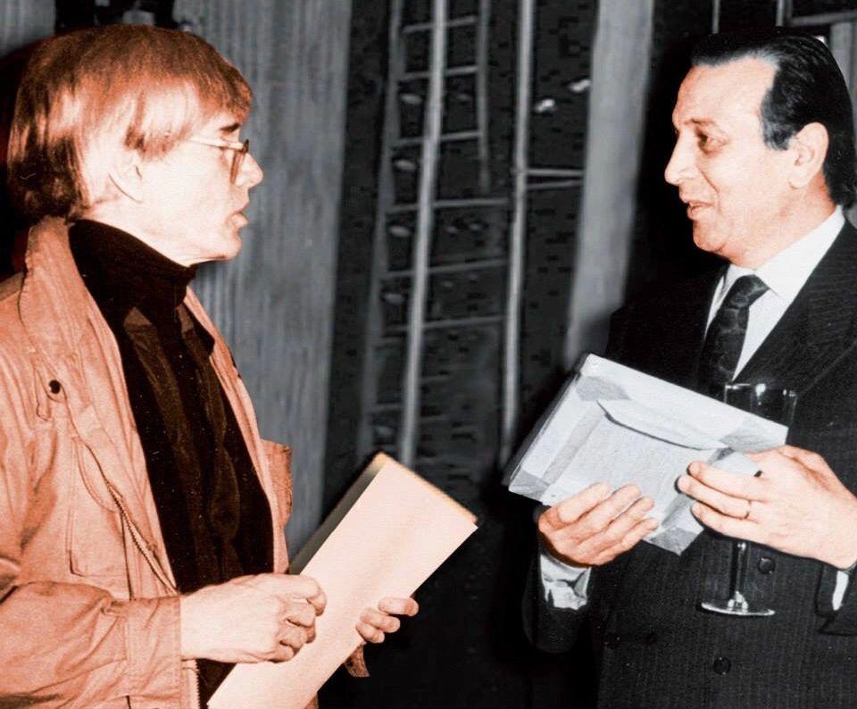 Pratesi with Andy Warhol