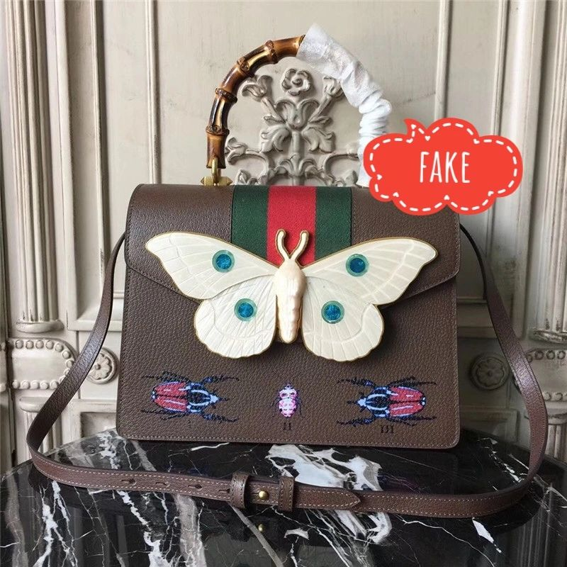 Fake GUCCI Falena bag with butterfly embellishment
