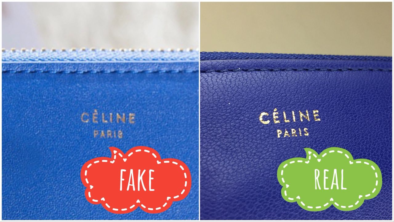 CELINE purse pinted logo