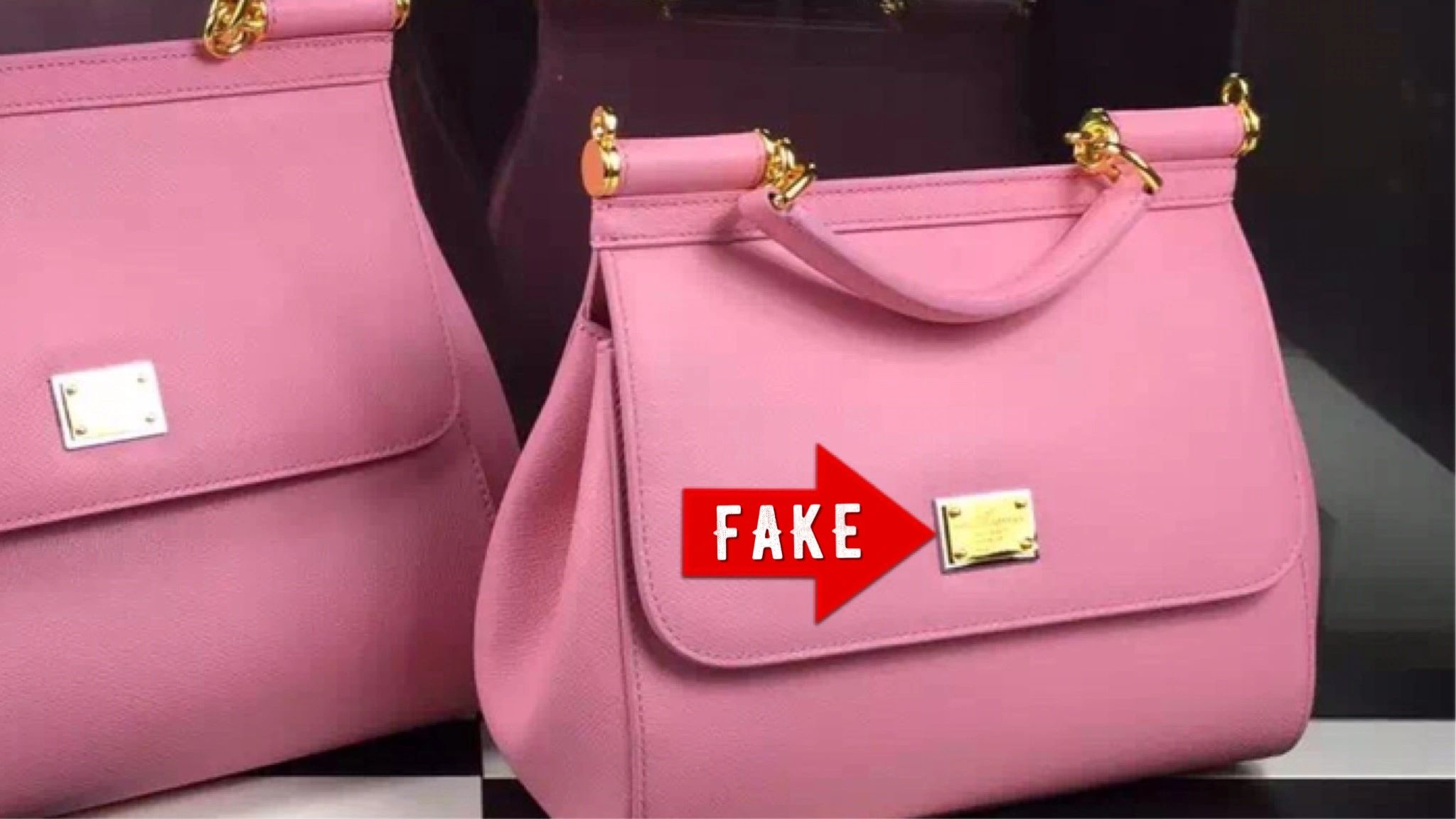 07603fa970d5 How to tell a real DOLCE   GABBANA purse from fake